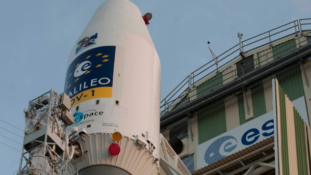 Europaeisches Navigationssystem Galileo vor Start ins All