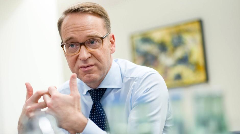 Jens Weidmann, 48, ist seit Mai 2011 Präsident der Deutschen Bundesbank in Frankfurt.