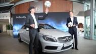 Noch im Zeichen des Sterns: Bundestrainer Löw und Teammanager Bierhoff