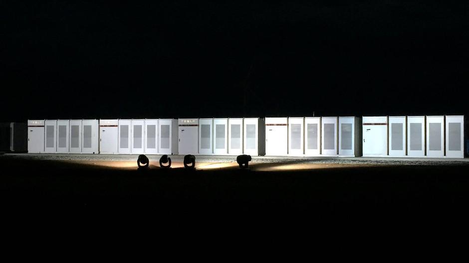 Teslas Batterien im Windpark Hornsdale.