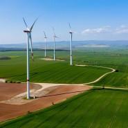 Ein Windpark in Thüringen