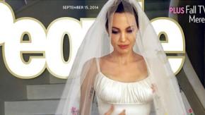 """Die Braut auf dem Cover: Das """"People Magazine"""" zeigt Angelina Jolie im Hochzeitskleid"""