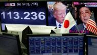 Transpazifische Wechselkursquerelen: Auch der Yen bringt Donald Trump derzeit in Rage – und Shinzo Abe wehrt sich.