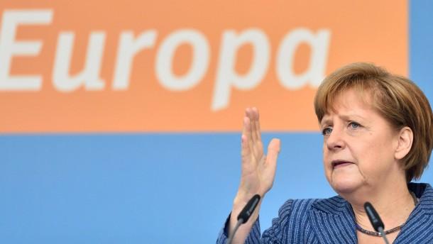 Europa-Wahlkampf mit Merkel
