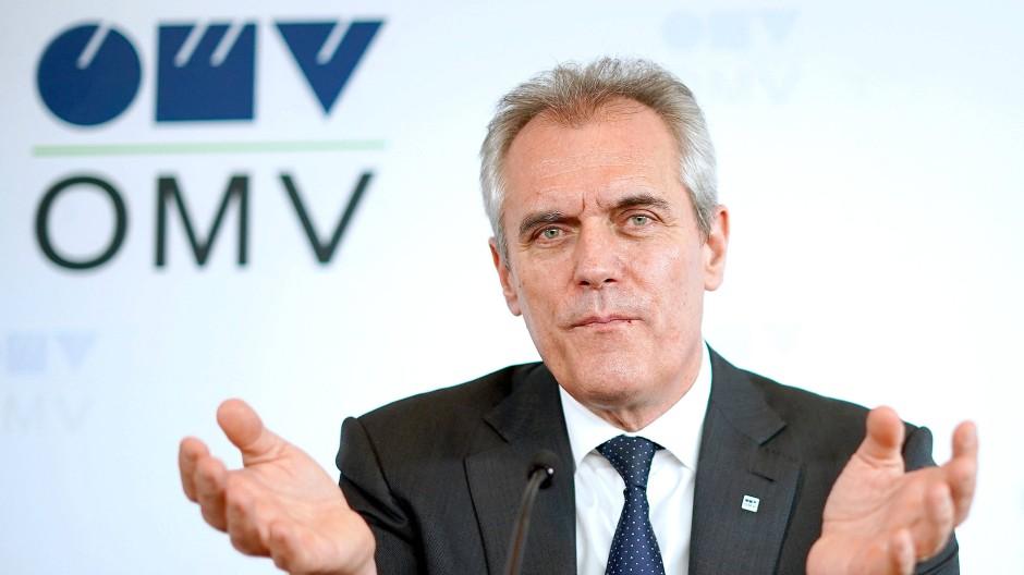 OMV-Chef Rainer Seele auf einer Konferenz in Wien Anfang des Jahres