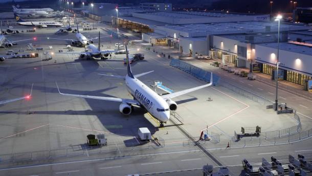 Am Flughafen Hahn gehen die Flugzahlen zurück