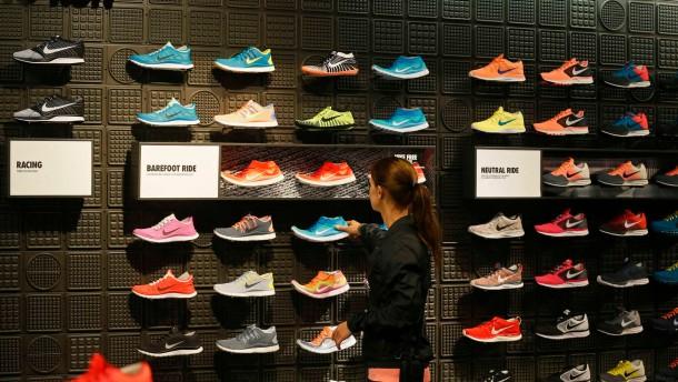Die Geschäfte von Nike laufen glänzend