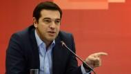 Alexis Tsipras auf einer Wahlkampfveranstaltung in Thessaloniki