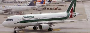 Ein Alitalia-Airbus 2009 in Mailand