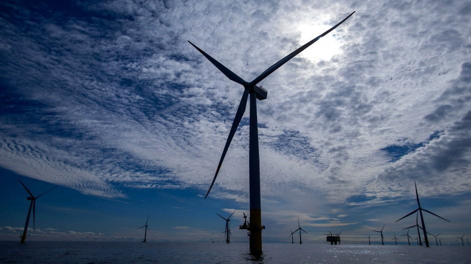 Offshore-Windkraftanlagen in der Ostsee.