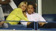 Kopf an Kopf: Heidi Klum und Vito Schnabel lesen keine Klatschmagazine, sondern schauen Tennis
