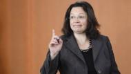 Arbeitsministerin Andrea Nahles: Ihr Gesetz ist vom Tisch.