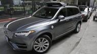 Soll bald auch wieder in Kalifornien fahren: Ein Testfahrzeug von Uber
