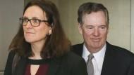 EU-Handelskommissarin Cecilia Malmström und der amerikanische Handelsbeauftragte Robert Lighthizer.