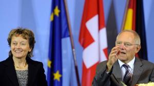 Schäuble schließt neue Verhandlungen mit der Schweiz aus