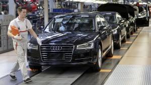 Audi unterbricht Produktion nach Unwetter