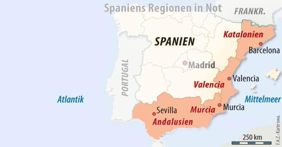 Spanische Regionen Auch Andalusien Braucht Milliardenhilfe Wirtschaft Faz