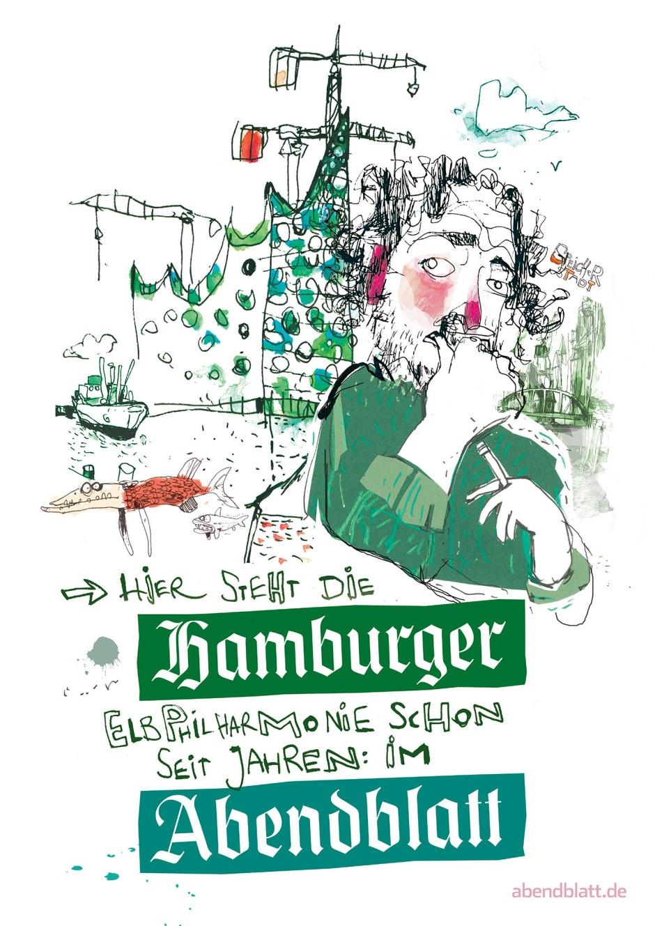 Werbung für das Hamburger Abendblatt