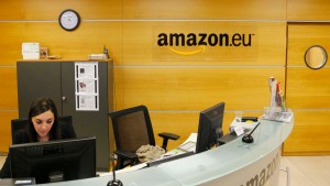 File picture showing the view of the reception of Amazon Europe Holding Technologies in Luxembourg