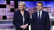 Le Pen und Macron vor dem verbalen Schlagabtausch
