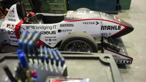 Roboter-Rennwagen vom Campus