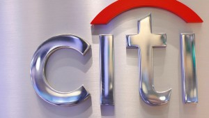File photo of a Citi sign at the Citigroup stall on the floor of the New York Stock Exchange