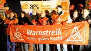 Warnstreiks quer durch ganz Deutschland