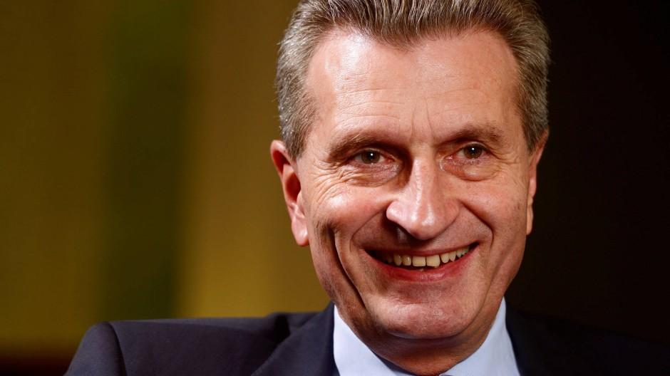 """""""Mit der Zeit sollte die Förderung ganz eingestellt  werden"""": Günther Oettinger"""
