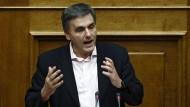 Weihnachtsfriede scheint nicht so seine Sache zu sein: Griechenlands Finanzminister Euclid Tsakalotos
