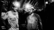Hier geht es für sie nicht weiter: Zwei Bergleute im Bergwerk Prosper Haniel, bei einem ihrer letzten Einsätze zur Steinkohleförderung