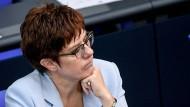 Mit dem Ergebnis zufrieden: die CDU-Vorsitzende Annegret Kramp-Karrenbauer