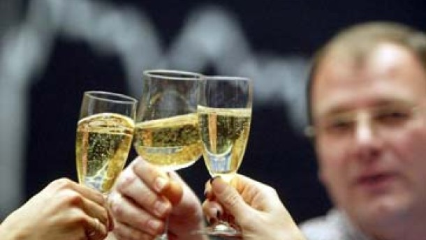 Champagner-Laune in der City