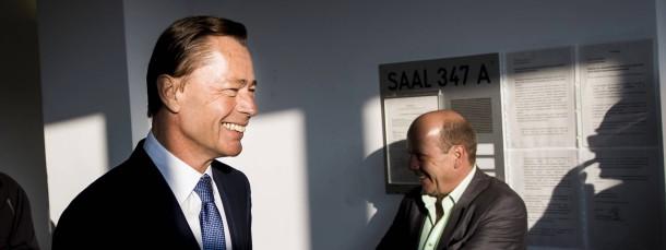 Thomas Middelhoff hat vor dem Prozess gut Lachen.