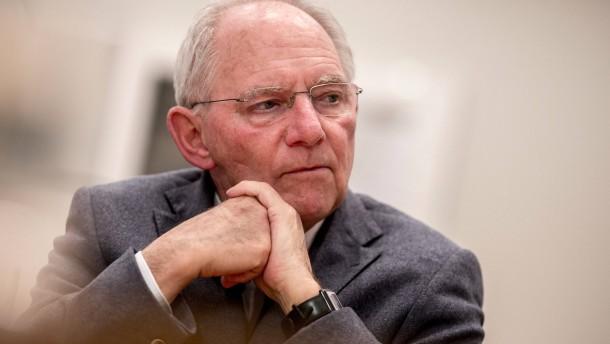 Schäuble, erbarmungslos