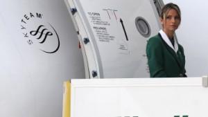 Alitalia kurz vor der endgültigen Landung am Boden