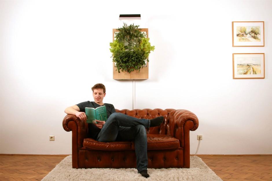 bilderstrecke zu vertikaler garten f r indoor kommt ohne sonne und erde aus bild 1 von 2 faz. Black Bedroom Furniture Sets. Home Design Ideas