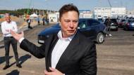 Baut gerade auch in Grünheide: Elon Musk