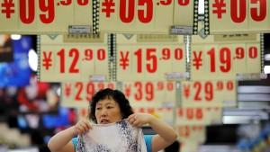 Chinas Preise steigen langsamer