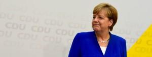 Angela Merkel am Montag in Berlin