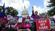 Protest gegen die Zurücknahme von Obamacare