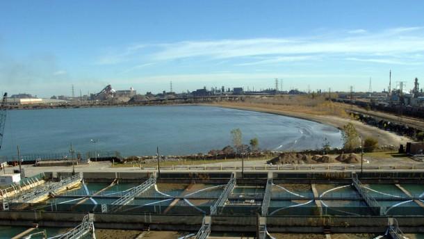 Ölunfall bei BP am Michigansee