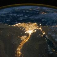 Ägypten vom All aus.