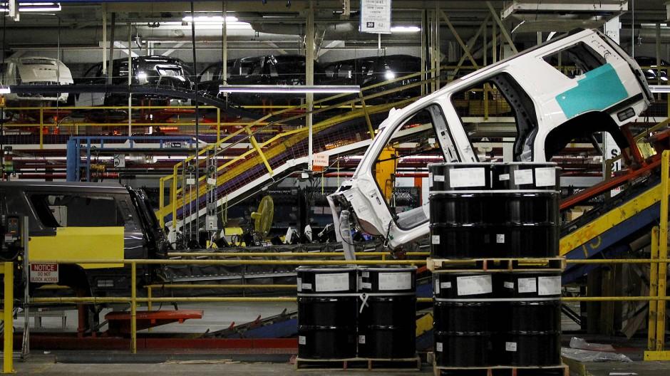 Ein SUV in der Fertigung von General Motors im texanischen Arlington.