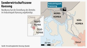 Karte / Sonderwirtschaftszone Kaesong
