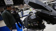 Chinas Regierung will mit Macht die heimischen Autobauer auf die Erfolgsspur bringen: Hier ein Elektroauto von Chang'an