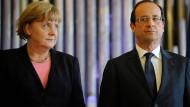 Angela Merkel (li) und Francois Hollande