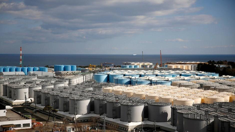 Das Atomkraftwerk Fukushima Daiichi an der japanischen Küste (aufgenommen hier im Februar 2019).