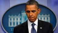 Die Schuldendebatte macht Präsident Obama sichtlich zu schaffen