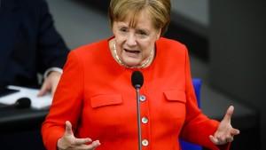 Merkel verteidigt ihre EU-Pläne