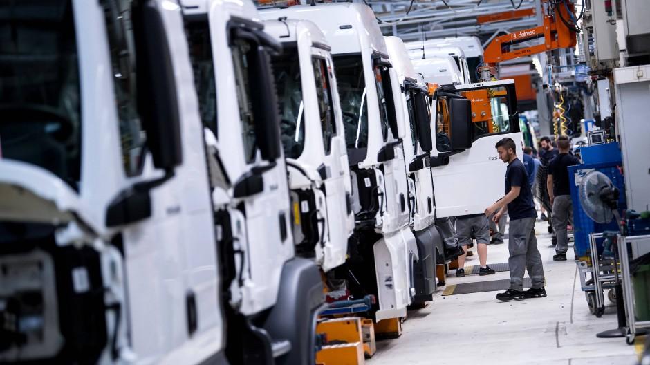 In der Lastwagen-Produktion von MAN.